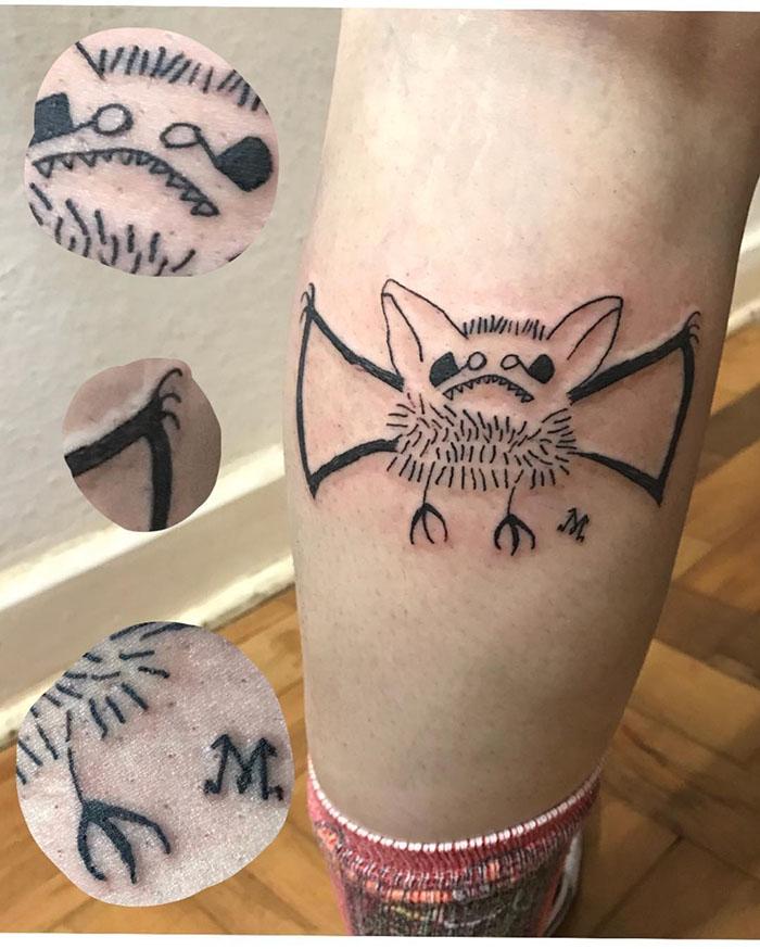 这位纹身艺术家没有高超的绘画技巧,但这也是她的客户选择她的原因插图(25)