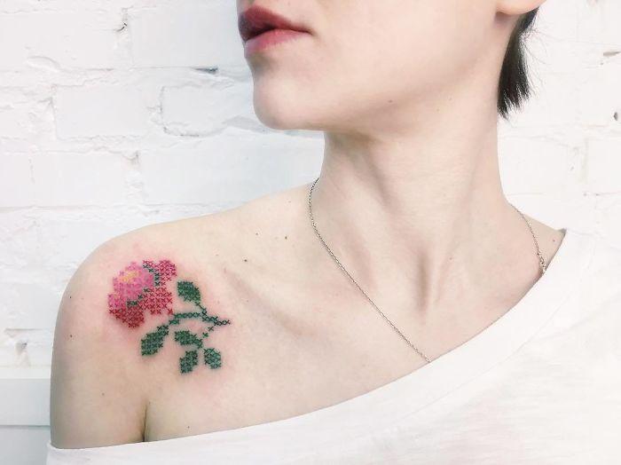 刺绣纹身插图(12)