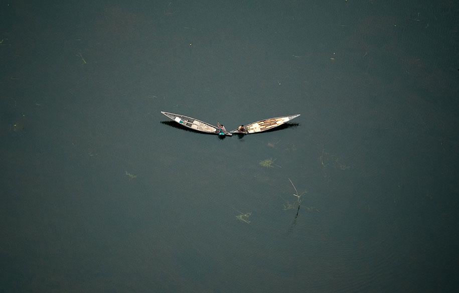 飞行员从空中拍摄的孟加拉插图
