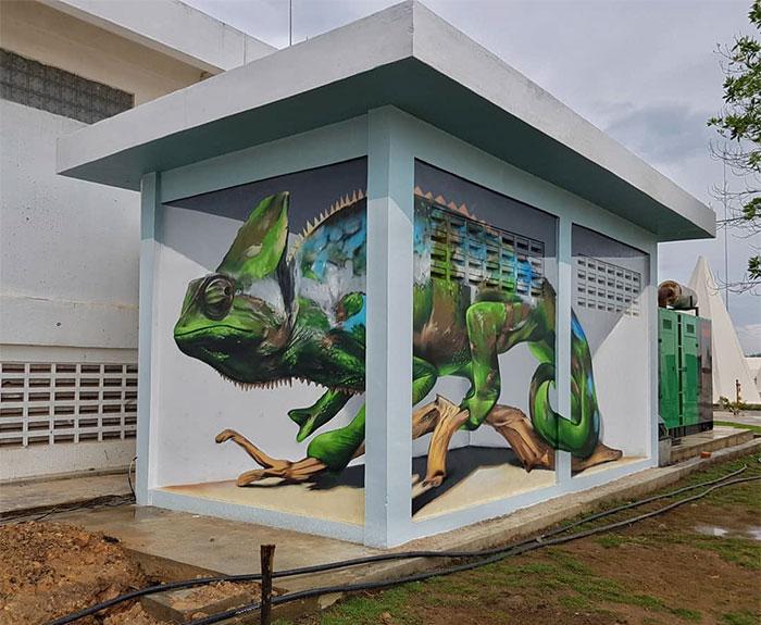 葡萄牙涂鸦艺术家的惊人3D绘画之作插图(27)