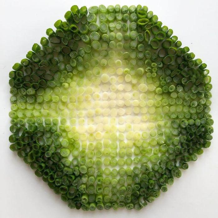 食品的空间罗列艺术插图