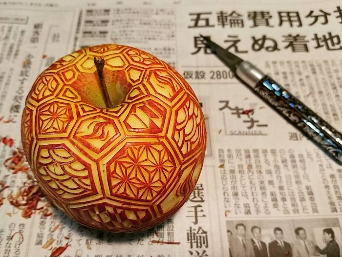 日本艺术家的食雕作品插图(20)
