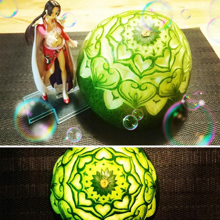 日本艺术家的食雕作品插图2