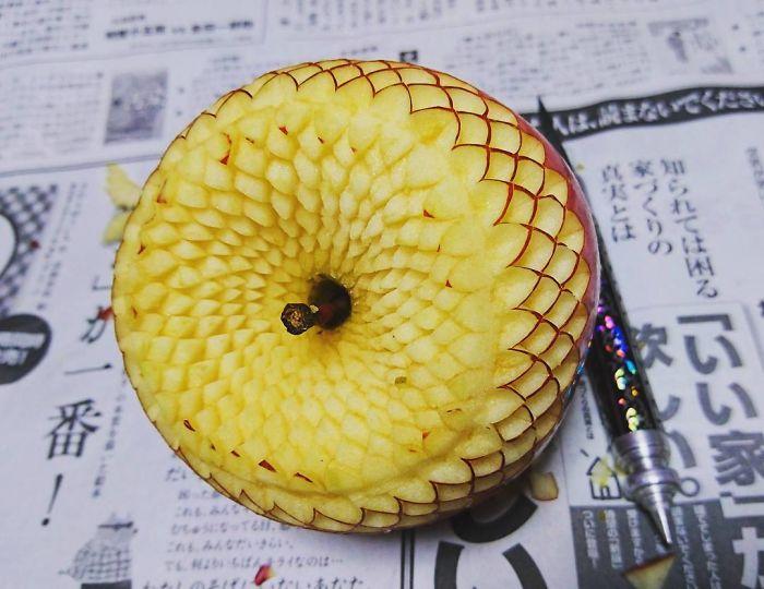 日本艺术家的食雕作品插图1