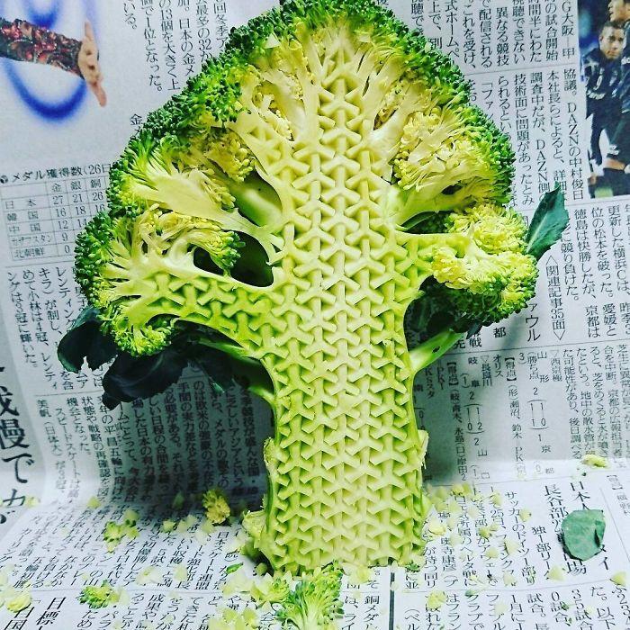 日本艺术家的食雕作品插图