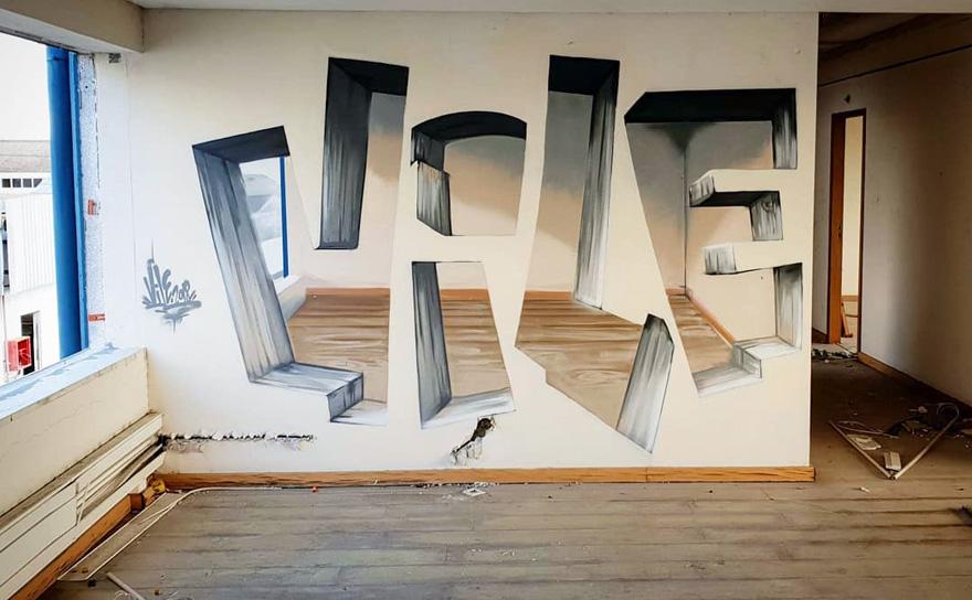 透视涂鸦插图(19)