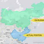 地图上的国家和其真实的尺寸缩略图