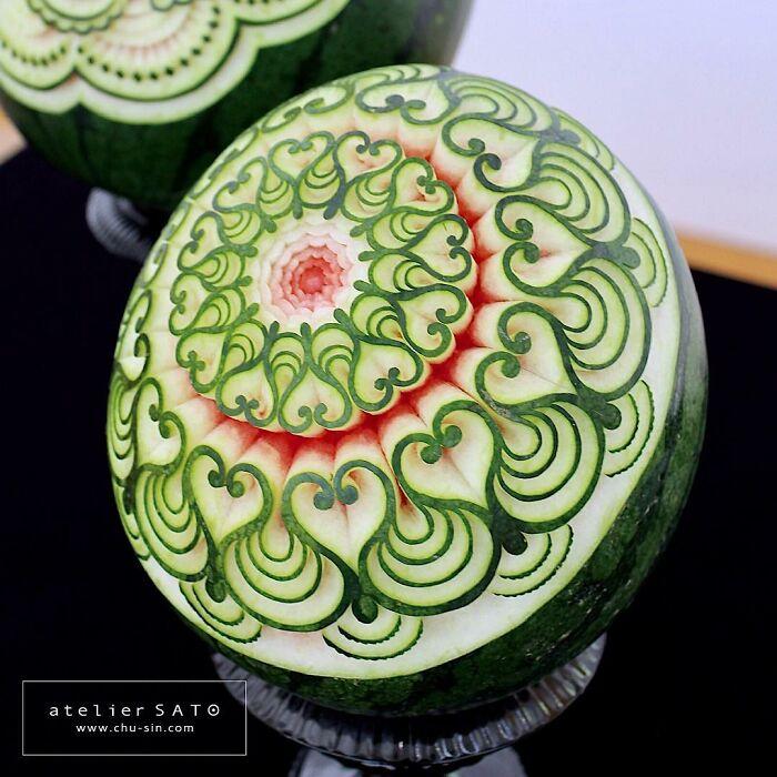 日本艺术家的精美食雕作品插图10