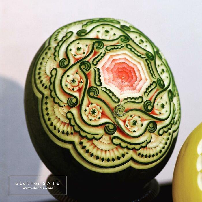 日本艺术家的精美食雕作品插图14