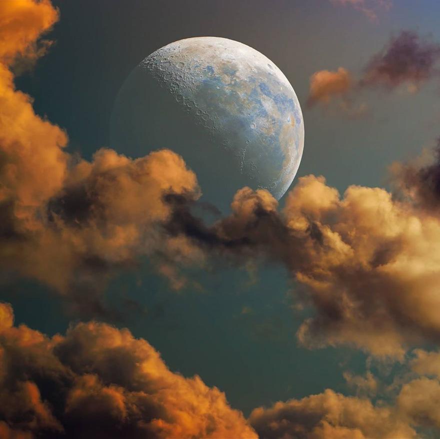 摄影师在他家后院抓拍到了国际空间站与太阳和月亮交错而过的照片插图3