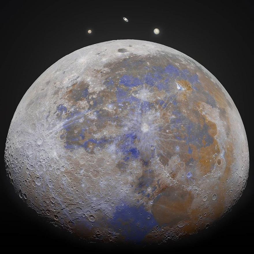 摄影师在他家后院抓拍到了国际空间站与太阳和月亮交错而过的照片插图9