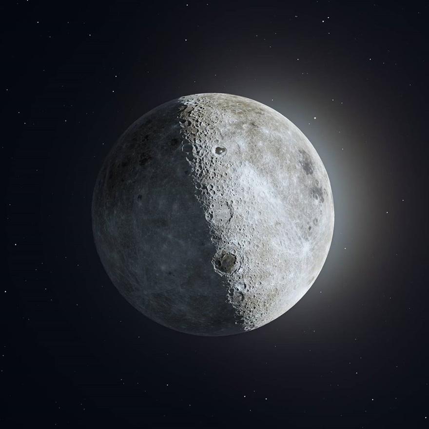 摄影师在他家后院抓拍到了国际空间站与太阳和月亮交错而过的照片插图5