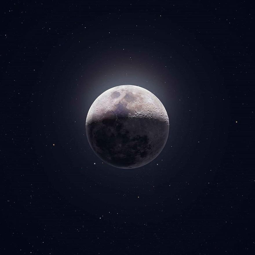 摄影师在他家后院抓拍到了国际空间站与太阳和月亮交错而过的照片插图7