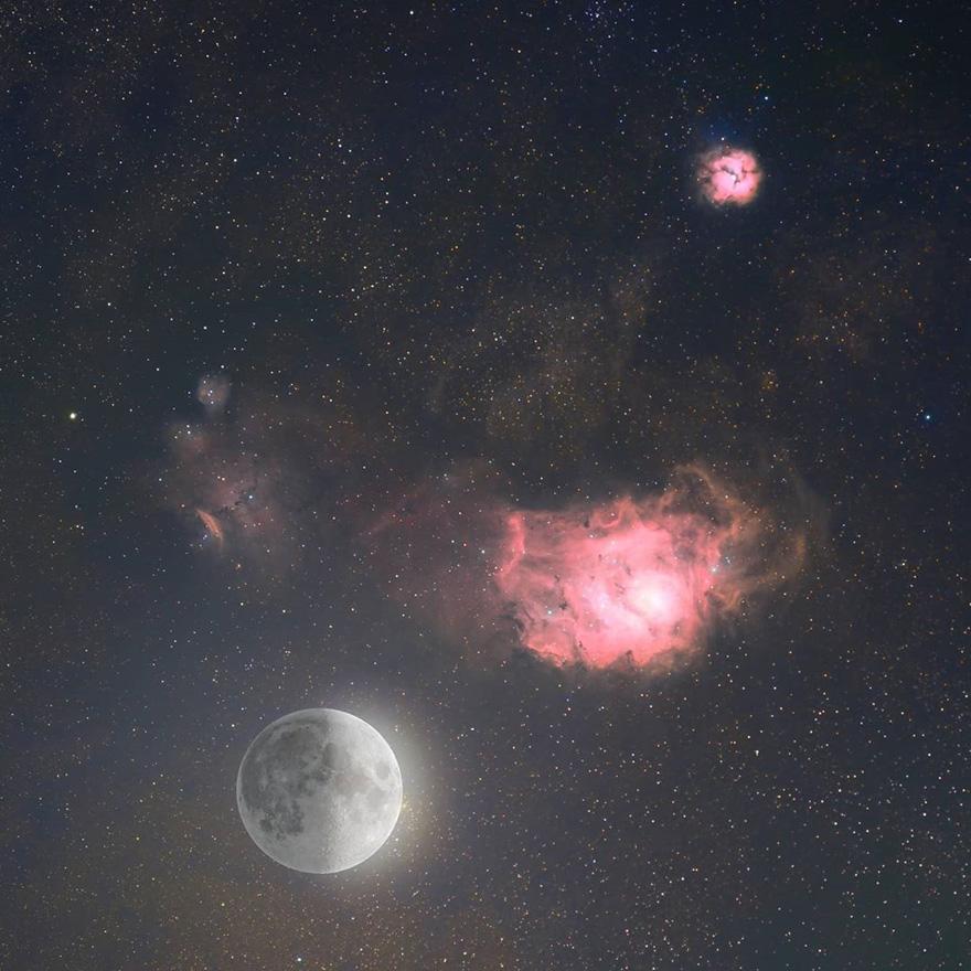 摄影师在他家后院抓拍到了国际空间站与太阳和月亮交错而过的照片插图8
